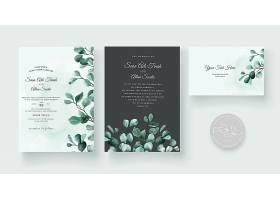婚礼请柬花卉装饰设计精美_9080916