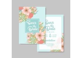 婚礼邀请函保存日期谢谢回应卡设计模_12089851