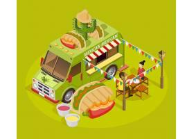 墨西哥美食车等距广告海报_4016618