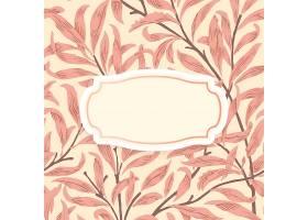 带居中装饰框的花卉背景_4520412