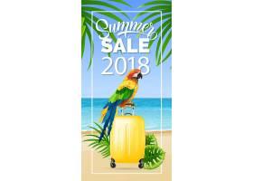 218年夏季特卖会有海边和鹦鹉的相框_2542108