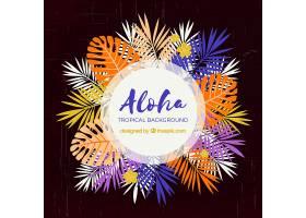Aloha背景五颜六色的树叶_2653360