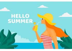 你好夏日概念_7851526