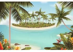 带海的夏季景观缩放背景_8934578