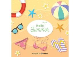平淡的你好夏日背景_4268035