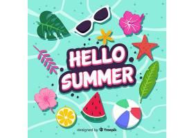 平淡的你好夏日背景_4289736