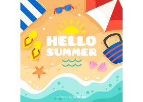 平淡的你好夏日背景_4302444