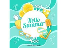 平淡的你好夏日背景_4302446