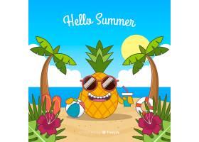 平淡的你好夏日背景_4393762