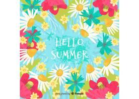 你好夏日背景_4332018