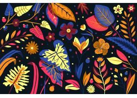 典雅的模板背景带有异国情调的鲜花_6842946