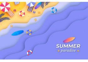纸质夏季背景_8247544