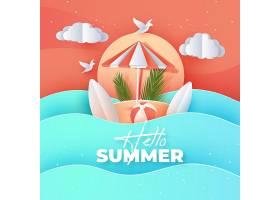 纸质夏季背景_8247567