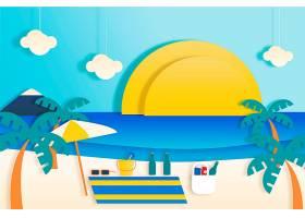 纸质风格的夏季墙纸概念_8278773
