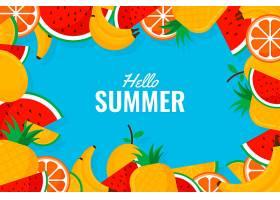 装饰性夏日背景主题_8280130