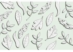 线形热带树叶以柔和的颜色为背景_8356285