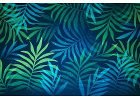缩放热带树叶的背景_8968399