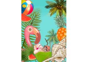 热带植物和水果背景_3091034
