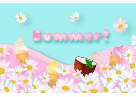 现实主义夏季背景概念_8278764