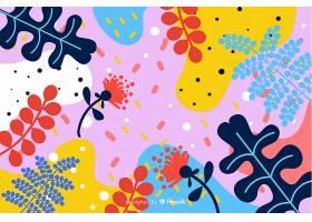 手绘热带花卉背景_4782086