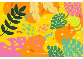 手绘热带花卉背景_4782087