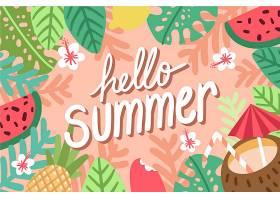 手绘设计夏日背景_8355309