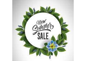 新的夏季大减价用鲜花和树叶围成一圈提_2438708