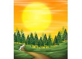 日落的自然景观_4228014