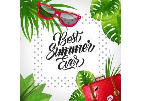 有史以来最棒的夏天刻字热带度假背景文_2538712