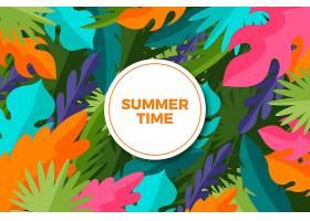 夏日的背景五颜六色的树叶_8355274