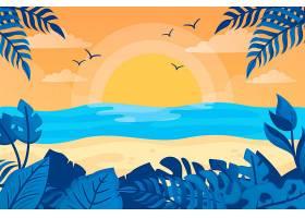 夏日背景带海滩_8355320