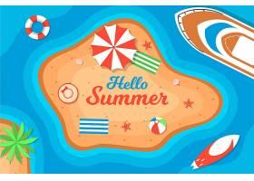 夏日背景带海滩_8509393
