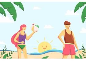 夏日背景画设计_8346408