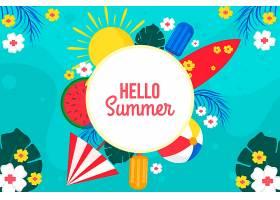 夏日背景色彩斑斓_8248266