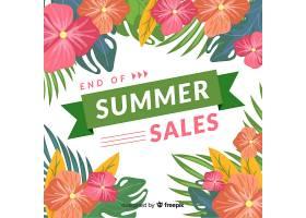 夏末销售背景_5093747