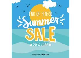 夏末销售背景_4942301