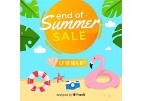 夏末销售背景_5018550