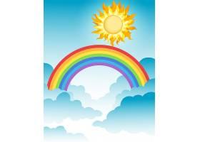 天空中一道美丽的彩虹_2440681