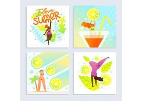 套装海报我爱夏日题字卡通平面_4838287