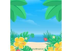 以植被为背景的热带海滩_2643311