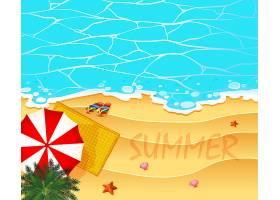 以海洋和海滩为背景的夏季主题_4931601