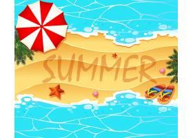 以海滩和大海为主题的夏季主题背景_4882505