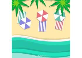 以纸质样式从顶部背景开始的海滩_2487902