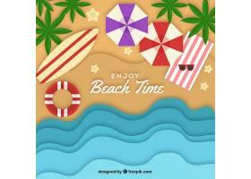 以纸质样式从顶部背景开始的海滩_2487904