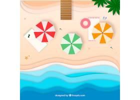以纸质样式从顶部背景开始的海滩_2487907
