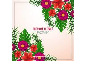 写实风格的热带花卉背景_2620336