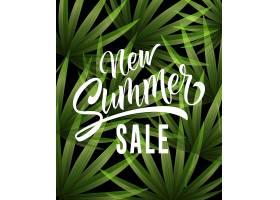 印有热带树叶的夏季新促销活动夏季优惠或_2438713
