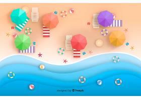 图纸样式的海滩俯视图_4539574