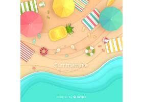图纸样式的海滩俯视图_4544344