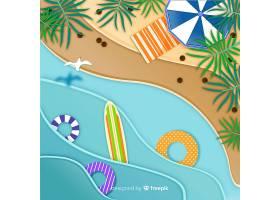 图纸样式的海滩俯视图_4544353
